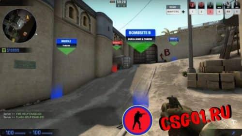 включить траекторию гранат в cs go